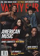 Vanity Fair Magazine November 2003 Magazine