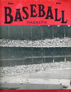 Baseball Magazine December 1947 Magazine