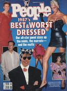 People 1987 Best and Worst Dressed November 1987 Magazine