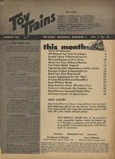 Toy Trains Magazine August 1953 Magazine