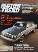 Motor Trend Magazine April 1980 Magazine