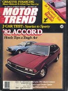 Motor Trend Magazine November 1981 Magazine