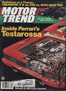 Motor Trend Magazine July 1985 Magazine