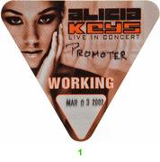 Alicia Keys Backstage Pass
