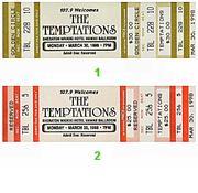 The Temptations Vintage Ticket