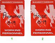 Sammy Hagar Backstage Pass