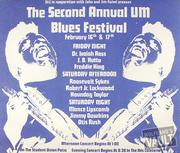 University of Miami Blues Festival Poster
