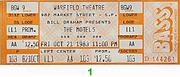 The Motels Vintage Ticket