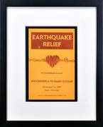 Earthquake Relief Benefit Framed Program