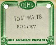 Tom Waits Backstage Pass
