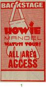 Howie Mandel Backstage Pass