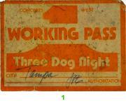 Three Dog Night Backstage Pass