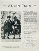 San Francisco Mime Troupe Handbill