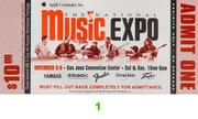 The National Music Expo Vintage Ticket