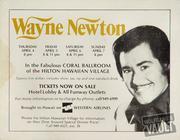 Wayne Newton Handbill