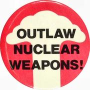 Outlaw Nuclear Weapons Pin