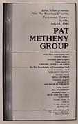 Pat Metheny Group Program
