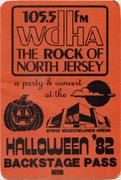 105.5 FM WDHA Halloween Concert Backstage Pass
