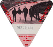 Bruce Hornsby and the Range Backstage Pass