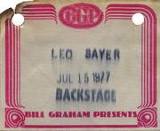 Leo Sayer Backstage Pass