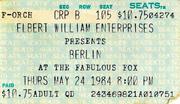 Berlin Vintage Ticket