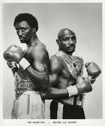 Hearns and Hagler Promo Print