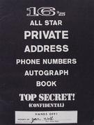 16's All Star Private Address Phone Numbers Autograph Book Magazine