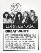 Whitesnake Handbill