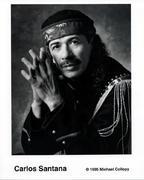 Carlos Santana Promo Print