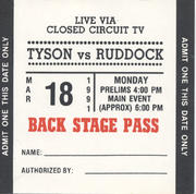 Tyson vs. Ruddock Backstage Pass