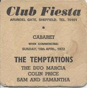 The Temptations Handbill