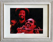 Stevie Wonder Framed Vintage Print