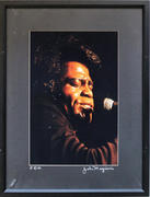 James Brown Framed Vintage Print