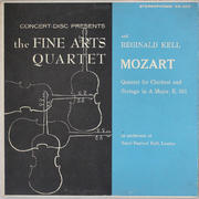 "The Fine Arts Quartet and Reginald Kell Vinyl 12"" (Used)"