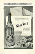 White Rock Lithia Water Vintage Ad