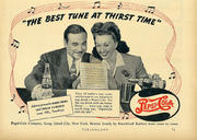 """Pepsi-Cola: """"The Best Tune At Thirst Time"""" Vintage Ad"""