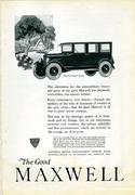 The Good Maxwell: Five-Passenger Sedan Vintage Ad