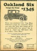 Oakland Six Vintage Ad