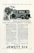 Jewett Six: Deluxe Sedan Vintage Ad
