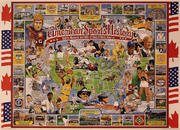 North American Sports History Poster