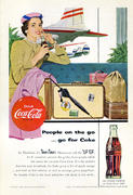 Coca-Cola: People On The Go...Go For Coke Vintage Ad