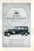 Reo: The Flying Cloud Eight Sedan Vintage Ad