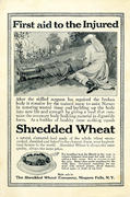 Shredded Wheat: First Aid To The Injured Vintage Ad
