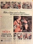 Edison The Man Vintage Ad