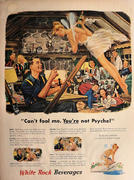 Every Picture Tells A Story: Wood on Canvas Vintage Ad
