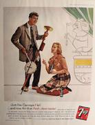 7up: Just Like Carnegie Hall Vintage Ad