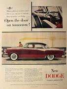 Dodge Royal Lancer: Open The Door On Tomorrow! Vintage Ad