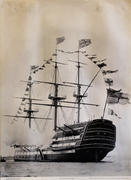 H.M.S. Victory Nelson's Flagship Poster