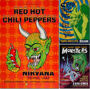 Red Hot Chili Peppers, Stone Temple Pilots, Big Head Todd Poster Set