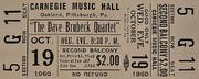 The Dave Brubeck Quartet Vintage Ticket